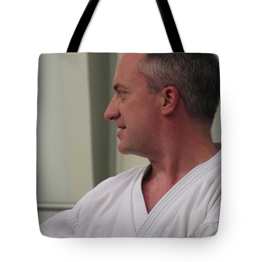 Karate Tote Bag featuring the photograph Michael by Kelly Mezzapelle