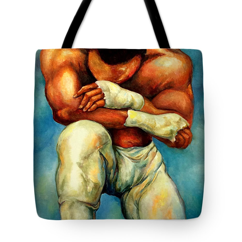 Lloyd Debery Tote Bag featuring the painting Michael Original by Lloyd DeBerry