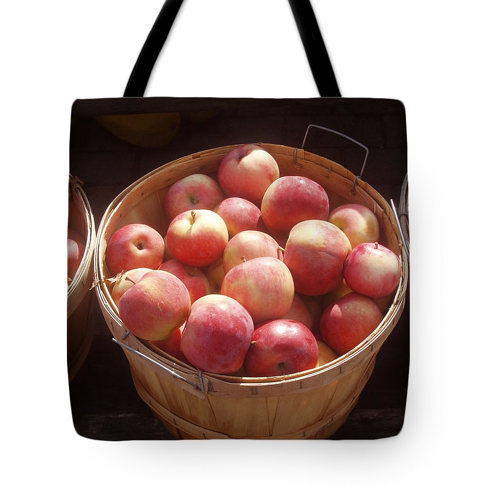 Apples Tote Bag featuring the photograph Michigan Apples by Wayne Potrafka