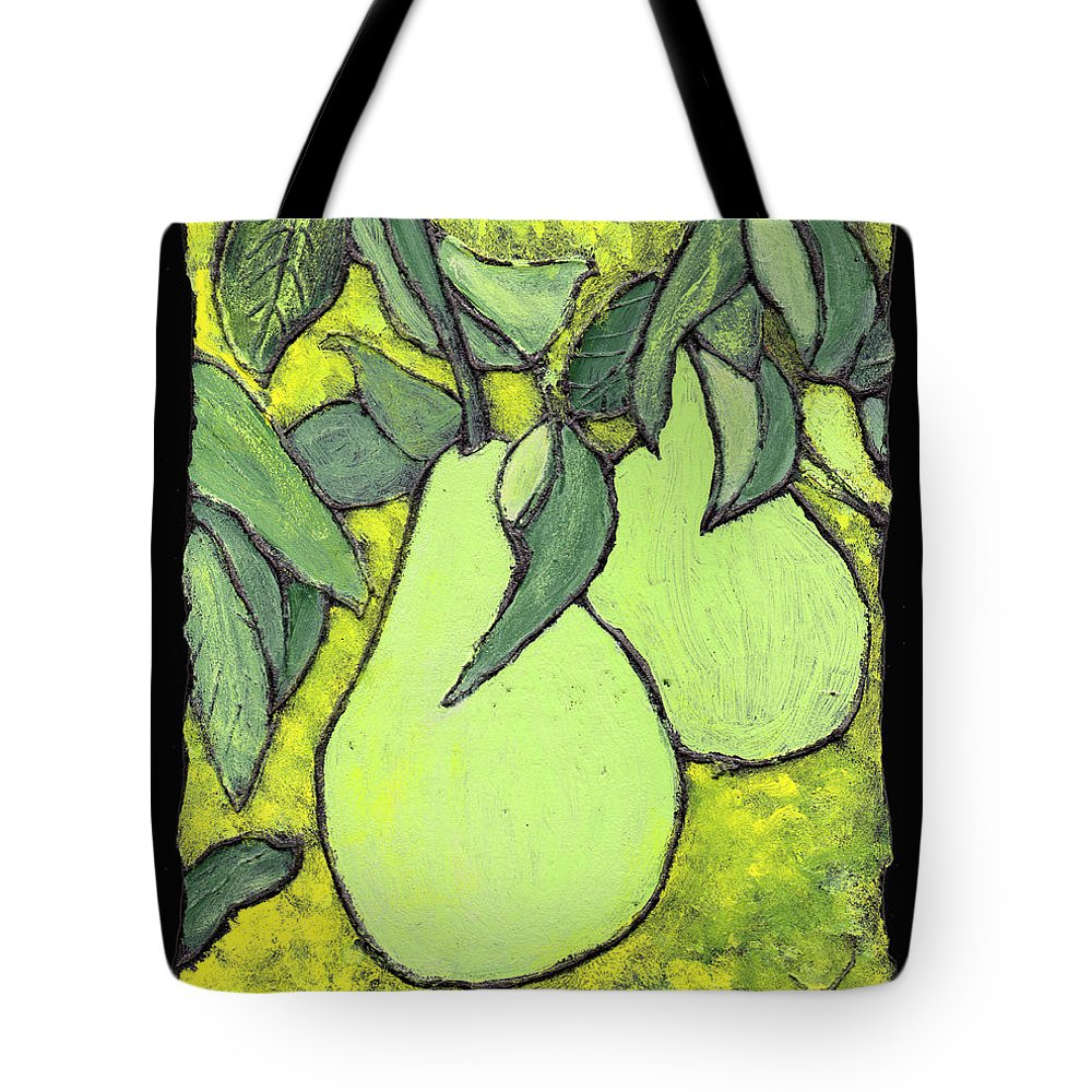 Pears Tote Bag featuring the painting Michigan Pears by Wayne Potrafka