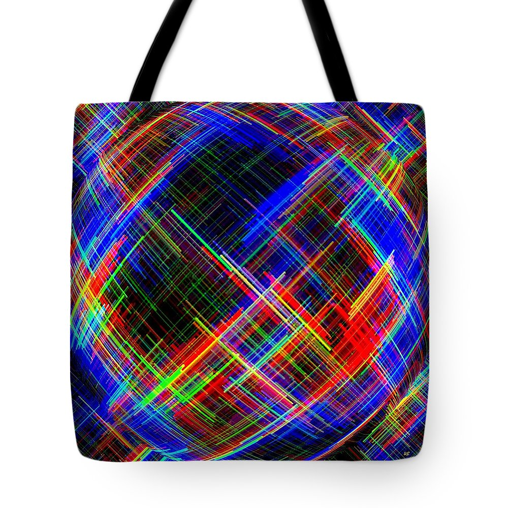 Micro Linear Tote Bag featuring the digital art Micro Linear 21 by Will Borden