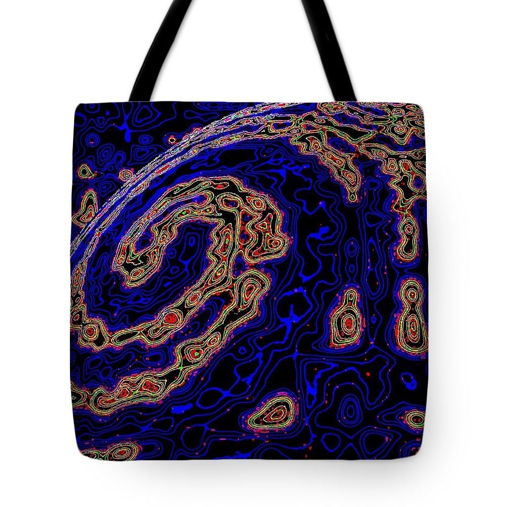 Micro Planet Tote Bag featuring the digital art Micro Planet by Will Borden