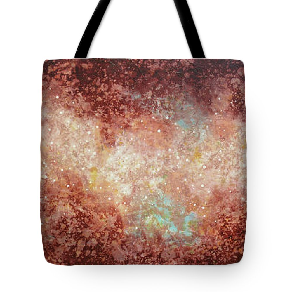 Large Abstract Tote Bag featuring the painting Microcosm by Jaison Cianelli