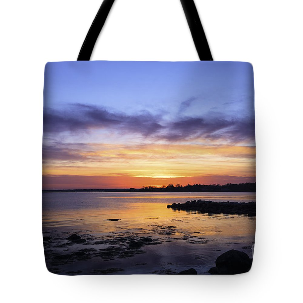 Www.joegeraci.com Tote Bag featuring the photograph Mid April Sunset by Joe Geraci
