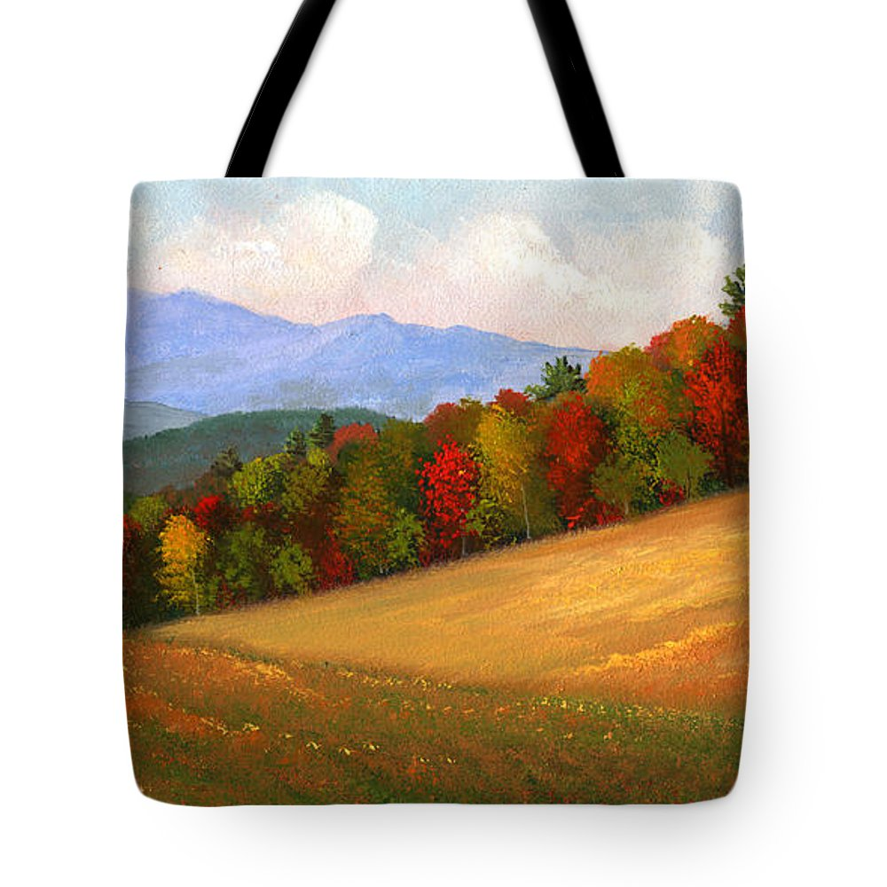 Landscape Tote Bag featuring the painting Mid Autumn by Frank Wilson
