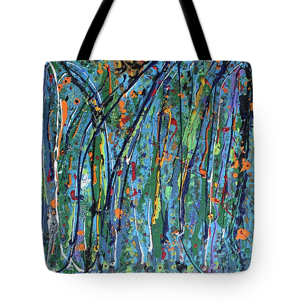 Bright Tote Bag featuring the painting Mid-Summer Night's Dream by Pam Roth O'Mara