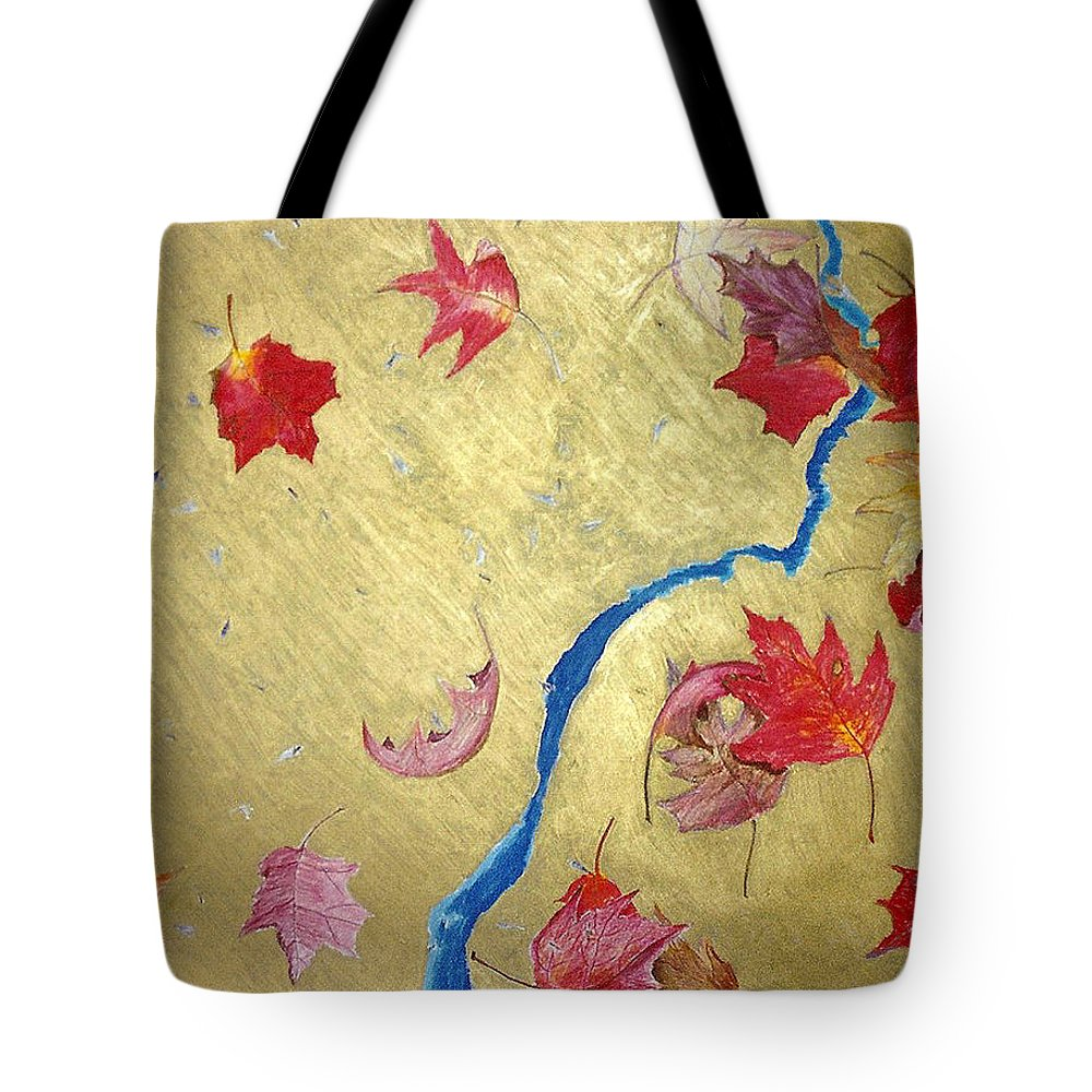 Abstract Tote Bag featuring the painting Midas Fall by Steve Karol