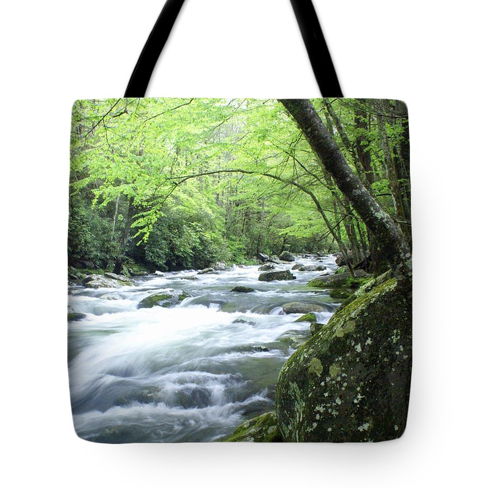 Stream Rive Tote Bag featuring the photograph Middle Fork River by Marty Koch