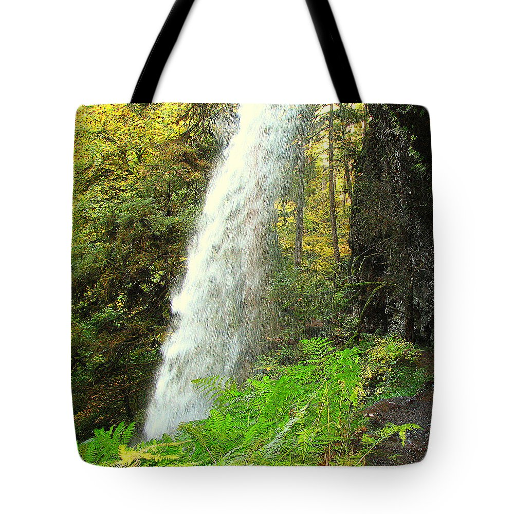 Clearwater Falls Tote Bag featuring the photograph Middle North Falls by Ingrid Smith-Johnsen