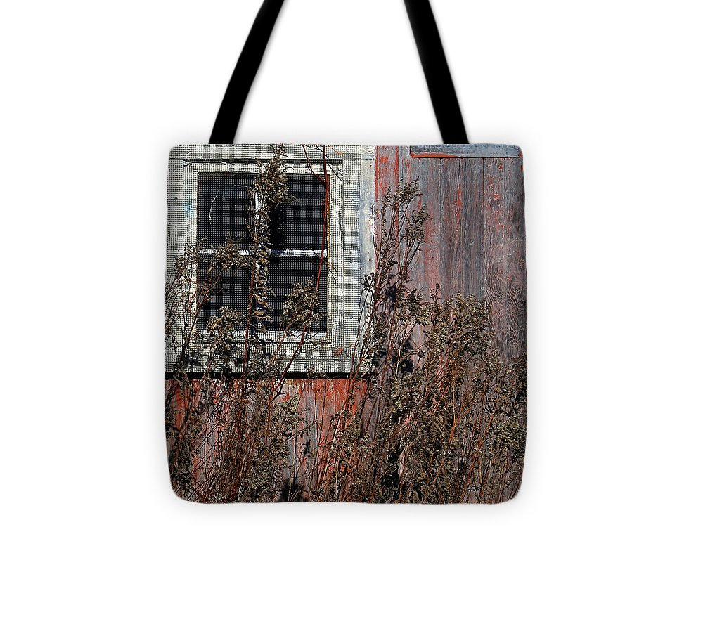 Shack Tote Bag featuring the photograph Middle Of Nowhere 2 by Mary Bedy
