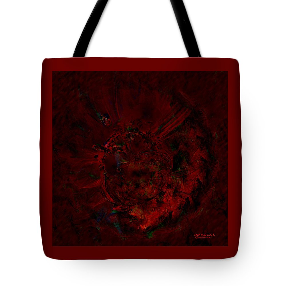 Flower Tote Bag featuring the digital art Midnight Flower by Diane Parnell