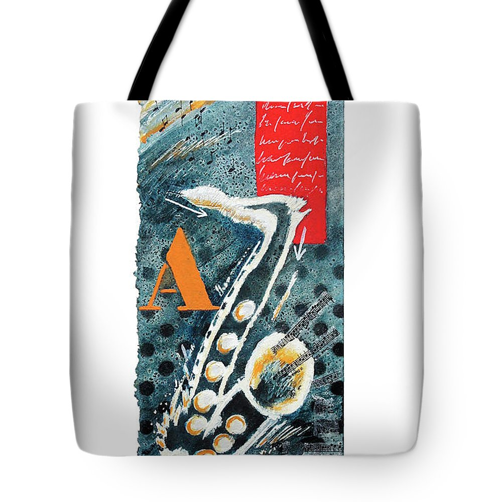 Music Tote Bag featuring the painting Midnight by Jean-luc Lacroix
