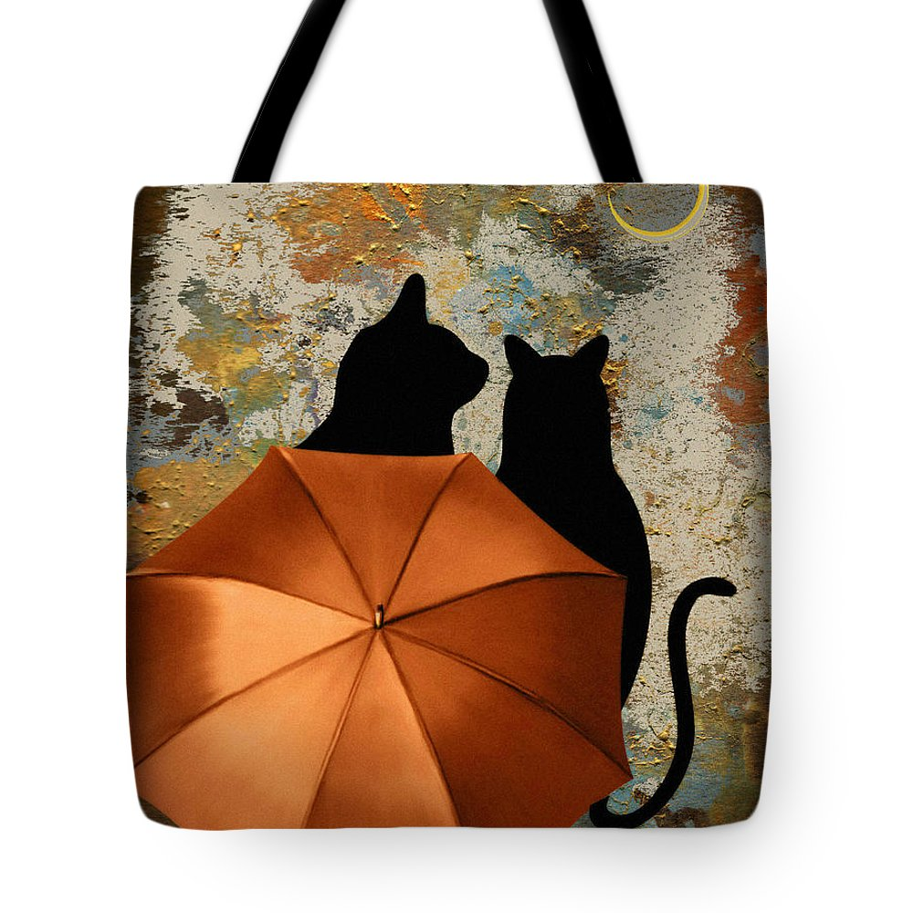 Love Tote Bag featuring the digital art Midnight Love by Rumiana Nikolova