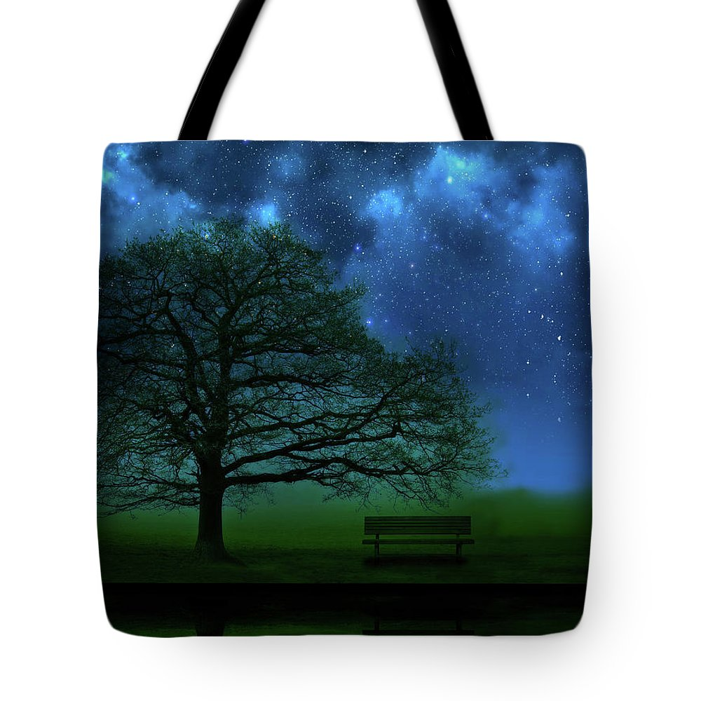 Tree Tote Bag featuring the photograph Midnight by Mark Rogan