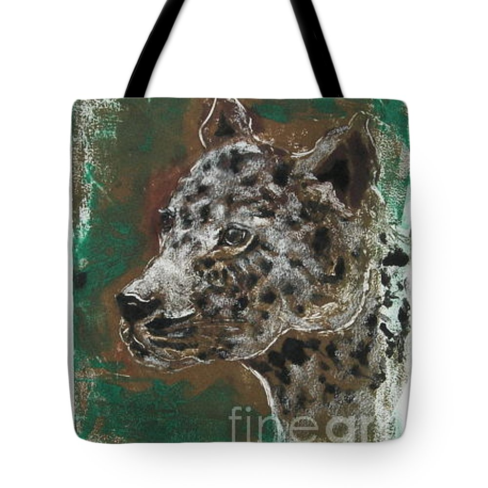 Monotype Tote Bag featuring the mixed media Midnight Prowler by Cori Solomon