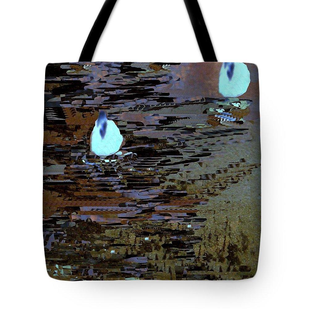 Digital Art Tote Bag featuring the digital art Midnight Swim by Nancy Kane Chapman