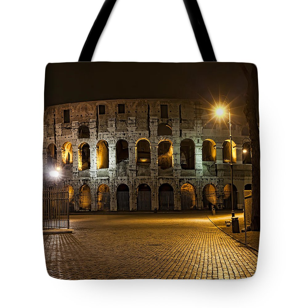 Italy Tote Bag featuring the photograph Midnight Walk by Janet Fikar