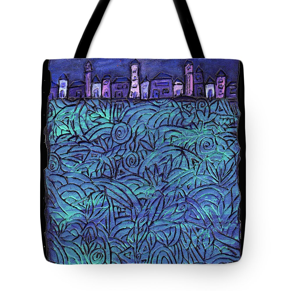 Night Tote Bag featuring the painting Midnight by Wayne Potrafka