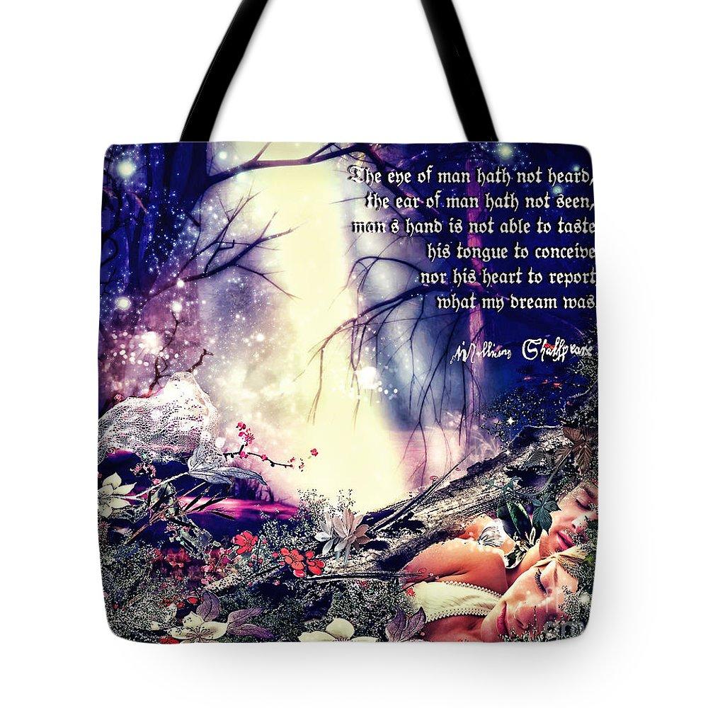 Midsummer Night Dream Tote Bag featuring the digital art Midsummer Night Dream by Mo T