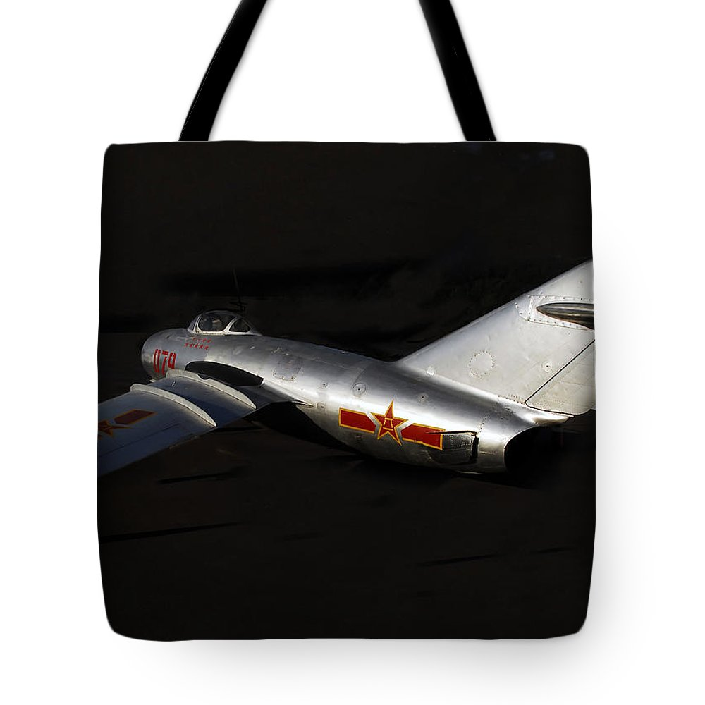 Mig Fighter Jet Tote Bag featuring the photograph MiG by David Lee Thompson