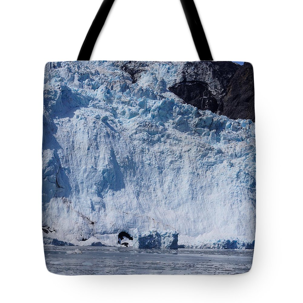 Alaska Tote Bag featuring the photograph Mighty Holgate Glacier by Jennifer White
