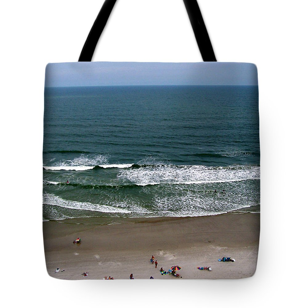 Ocean View Tote Bag featuring the photograph Mighty Ocean Aerial View by Patricia Taylor