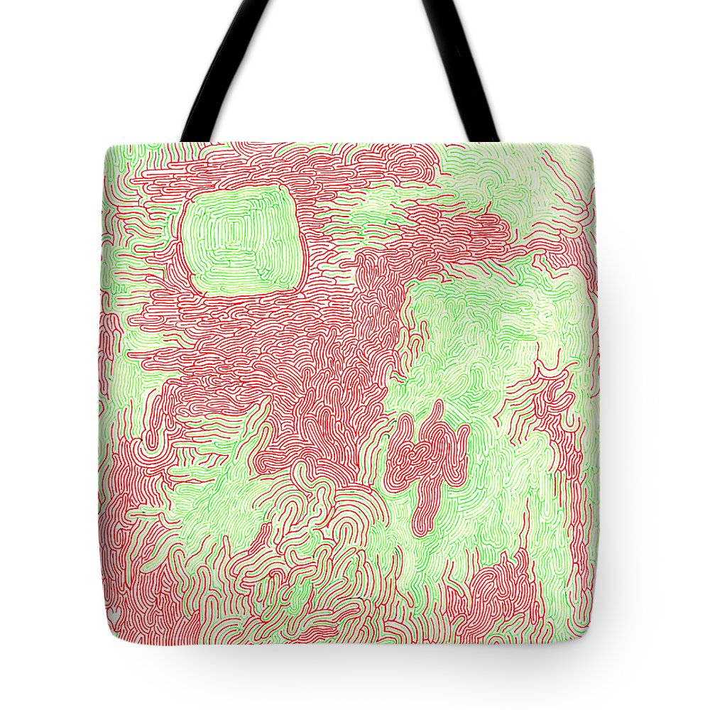 Mazes Tote Bag featuring the drawing Migraine by Steven Natanson
