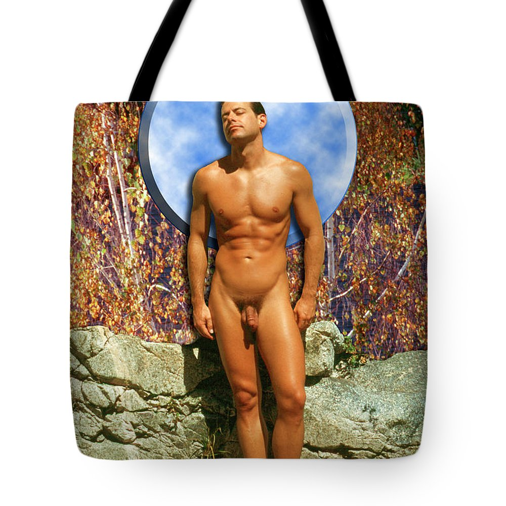 Male Tote Bag featuring the photograph Mike L. 4-1 by Andy Shomock