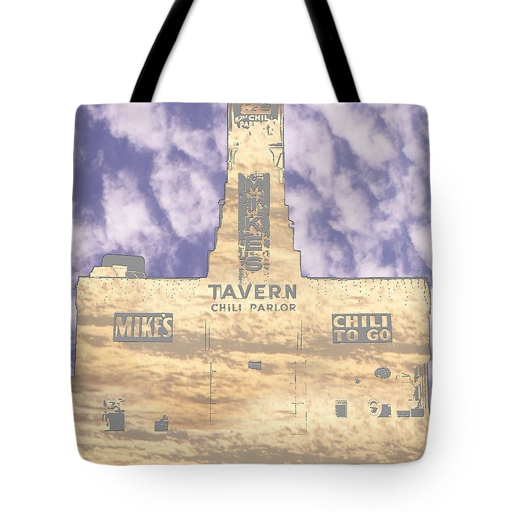Seattle Tote Bag featuring the photograph Mikes by Tim Allen