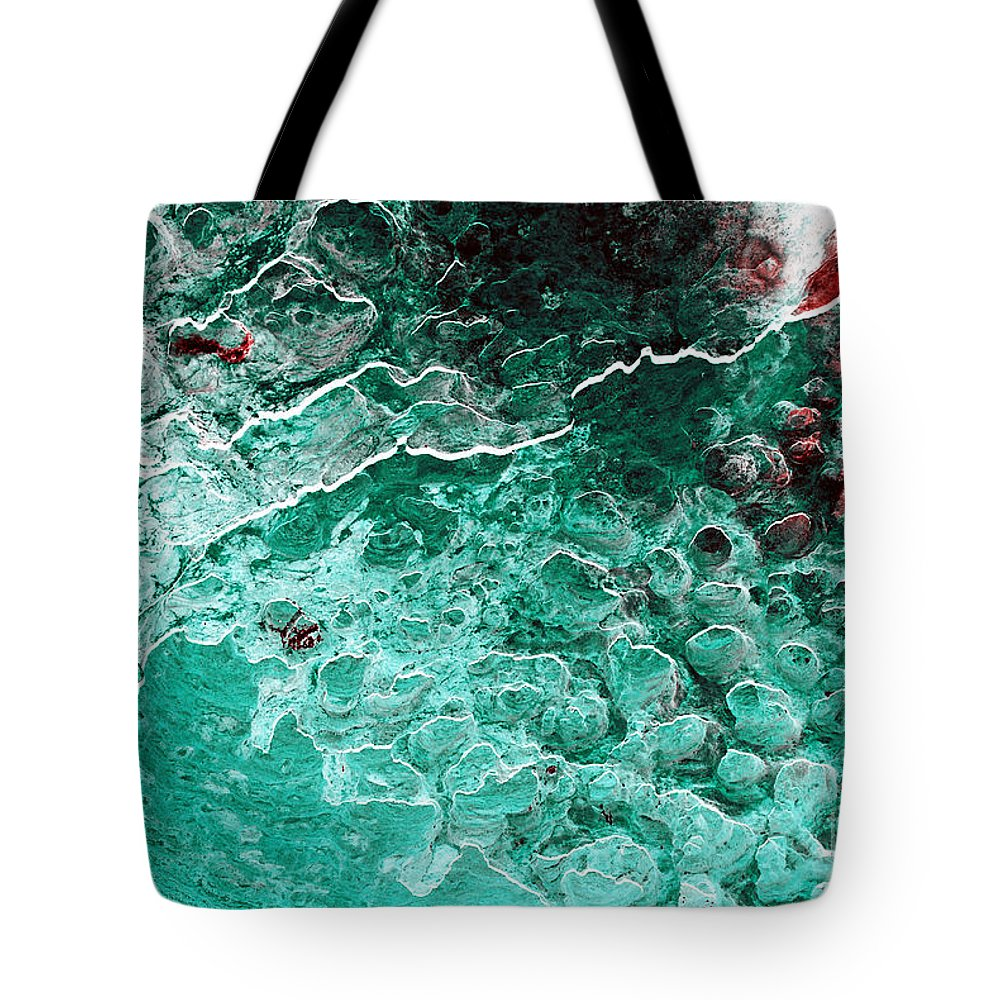 Abstract Tote Bag featuring the photograph Mildew by Carl Ellis
