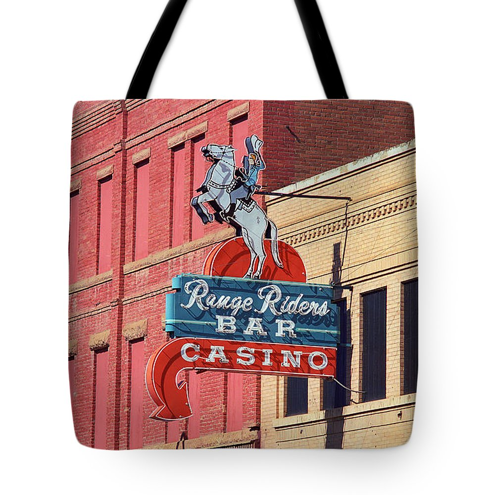America Tote Bag featuring the photograph Miles City, Montana - Downtown Casino by Frank Romeo