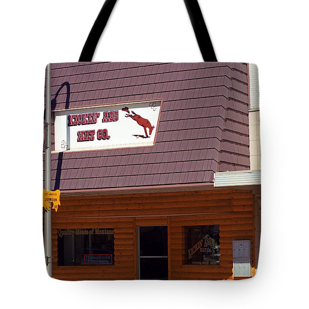 America Tote Bag featuring the photograph Miles City, Montana - Downtown by Frank Romeo