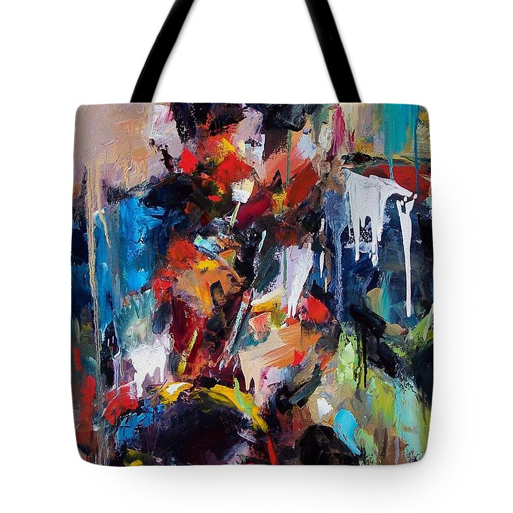 Jazz Art Tote Bag featuring the painting Miles Davis 2 by Debra Hurd