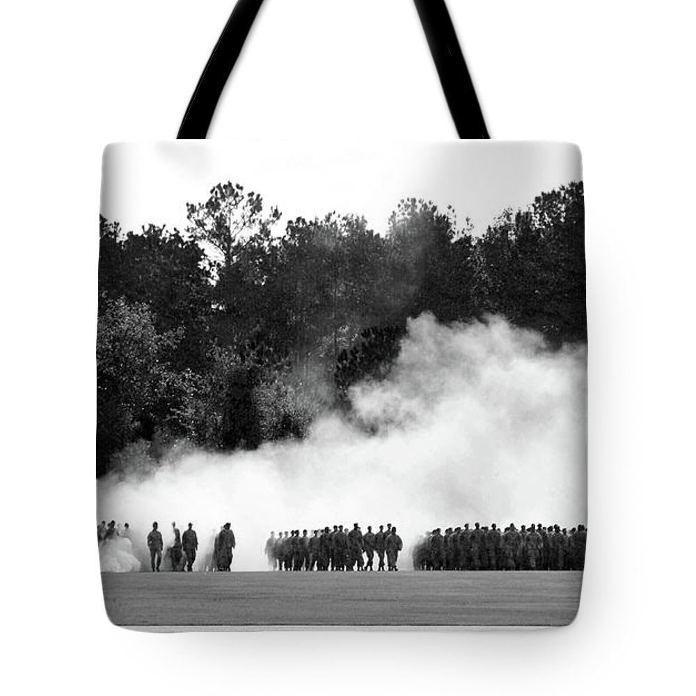 Tote Bag featuring the photograph Military Personnel by Jessica Olney