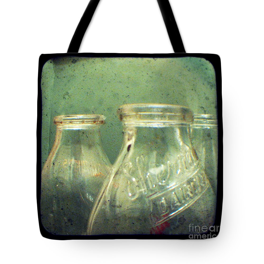 Ttv Tote Bag featuring the photograph Milk Bottles by Dana DiPasquale