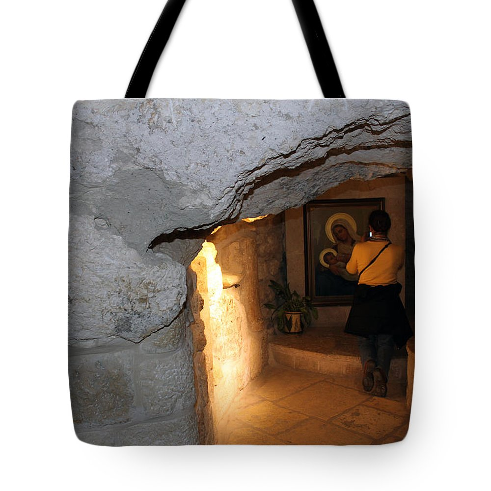 Bethlehem Tote Bag featuring the photograph Milk Grotto Church by Munir Alawi