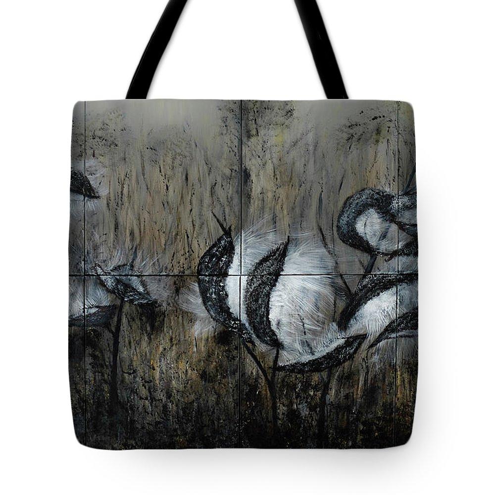 Milkweed Tote Bag featuring the painting Milkweed by Dick Bourgault