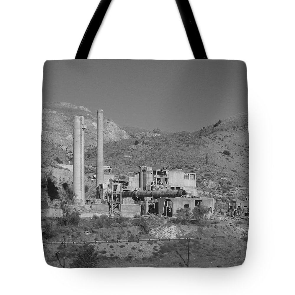 Mill Tote Bag featuring the photograph Mill And Stacks by Pat Turner