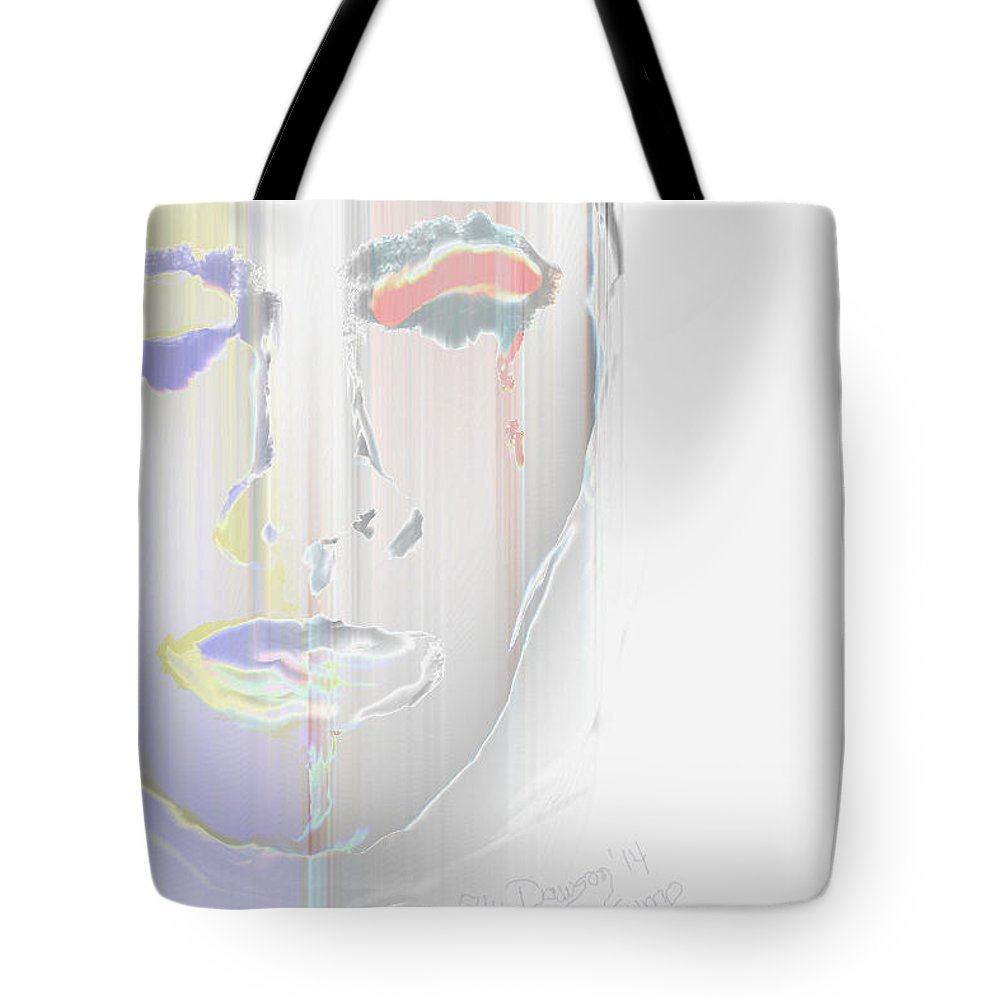 Abstract Tote Bag featuring the digital art Mind Over Matter by Ellen Dawson
