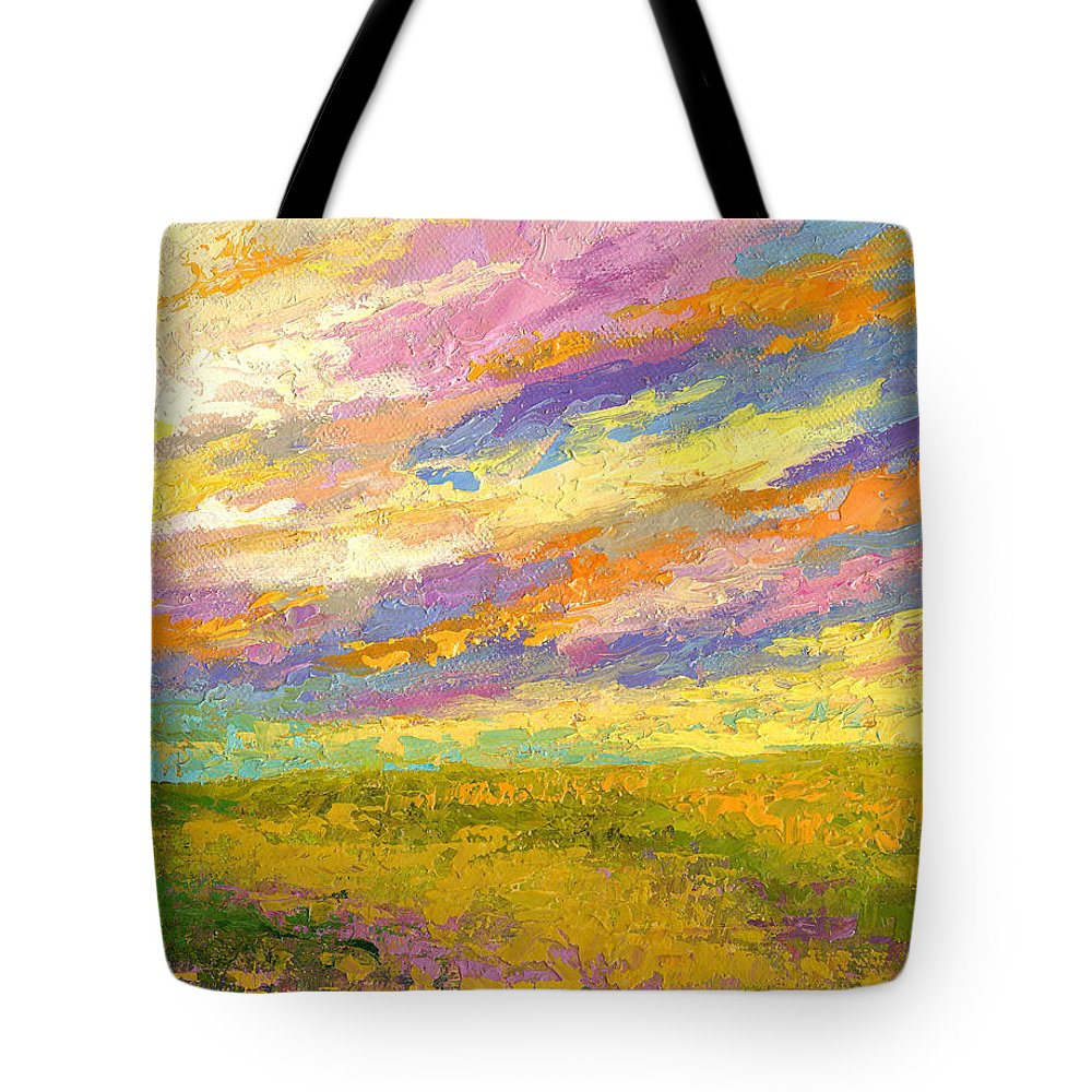 Landscape Tote Bag featuring the painting Mini Landscape V by Marion Rose