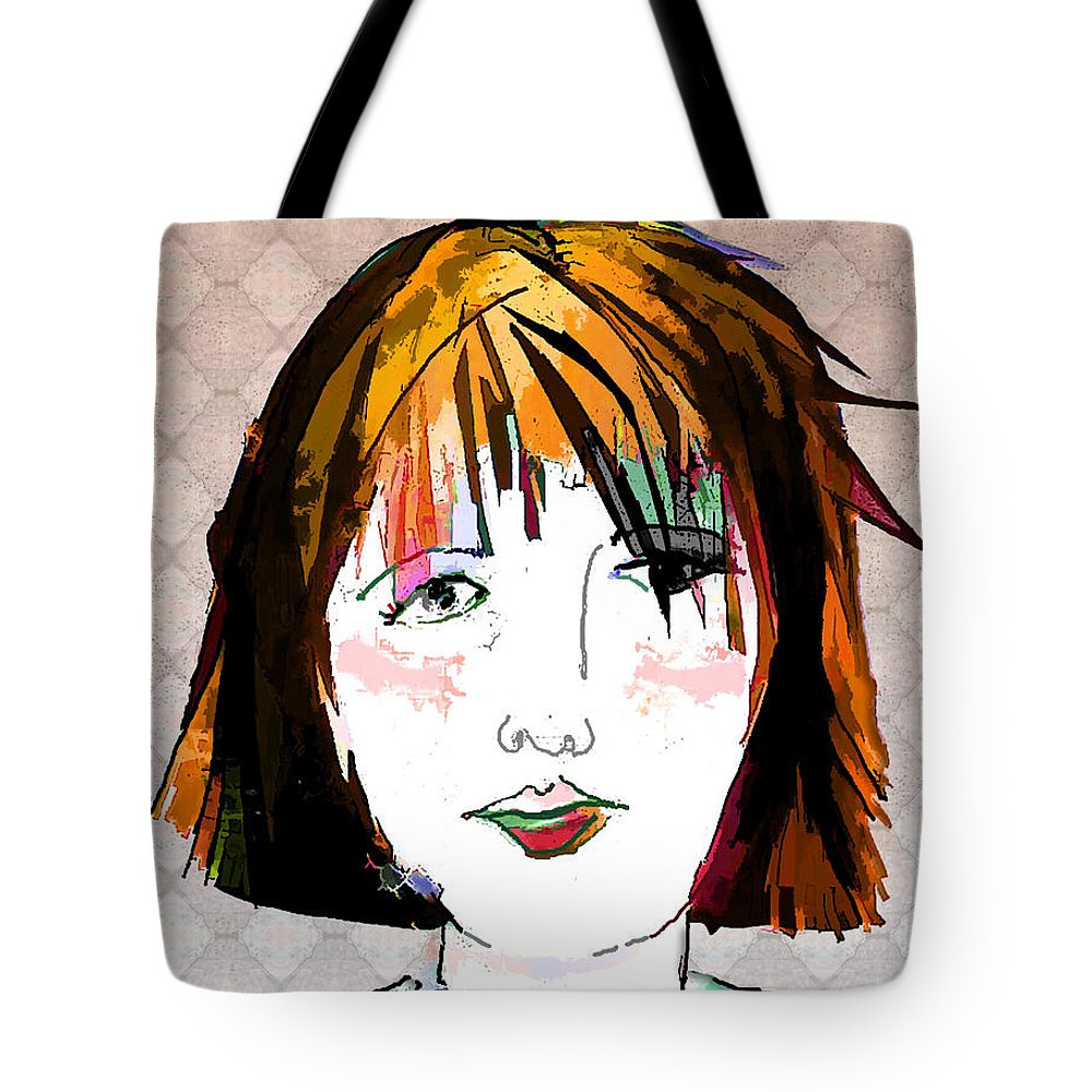 Woman Tote Bag featuring the digital art Minimal Makeup by Arline Wagner