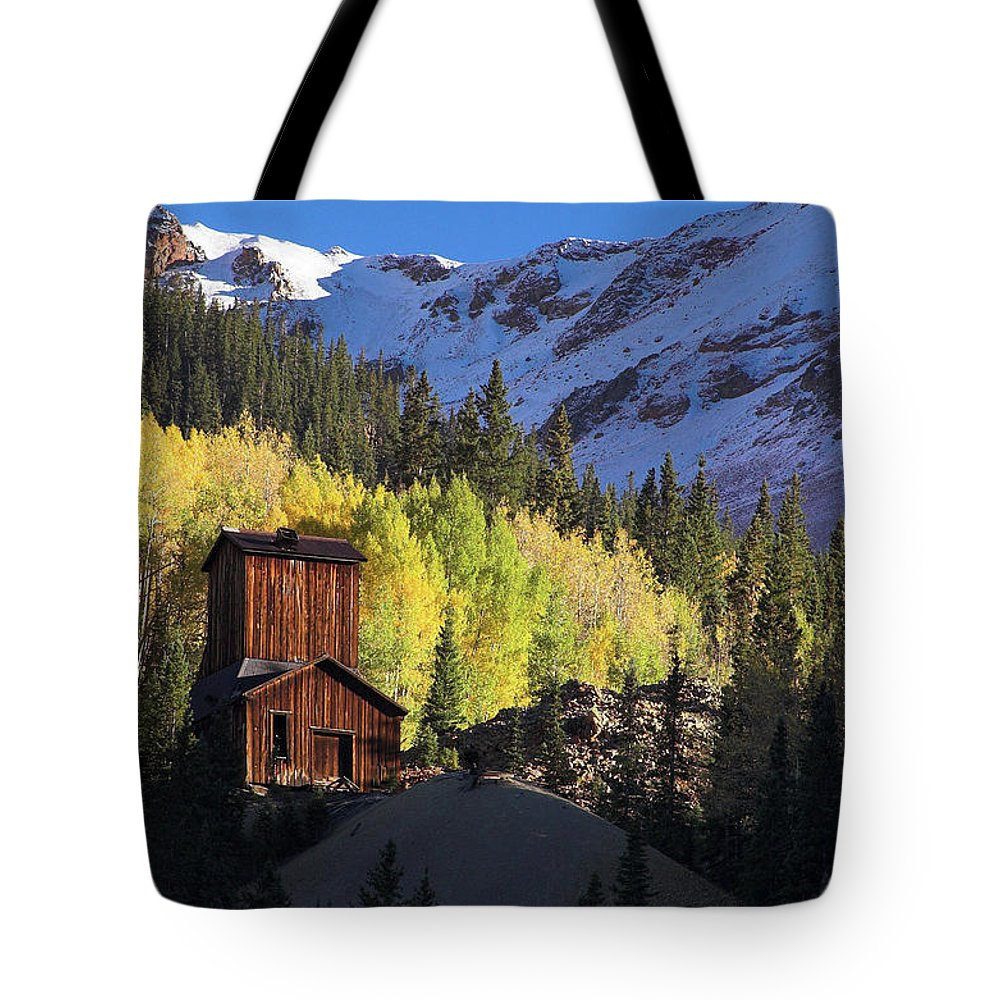 Colorado Tote Bag featuring the photograph Mining Ruins by Steve Stuller