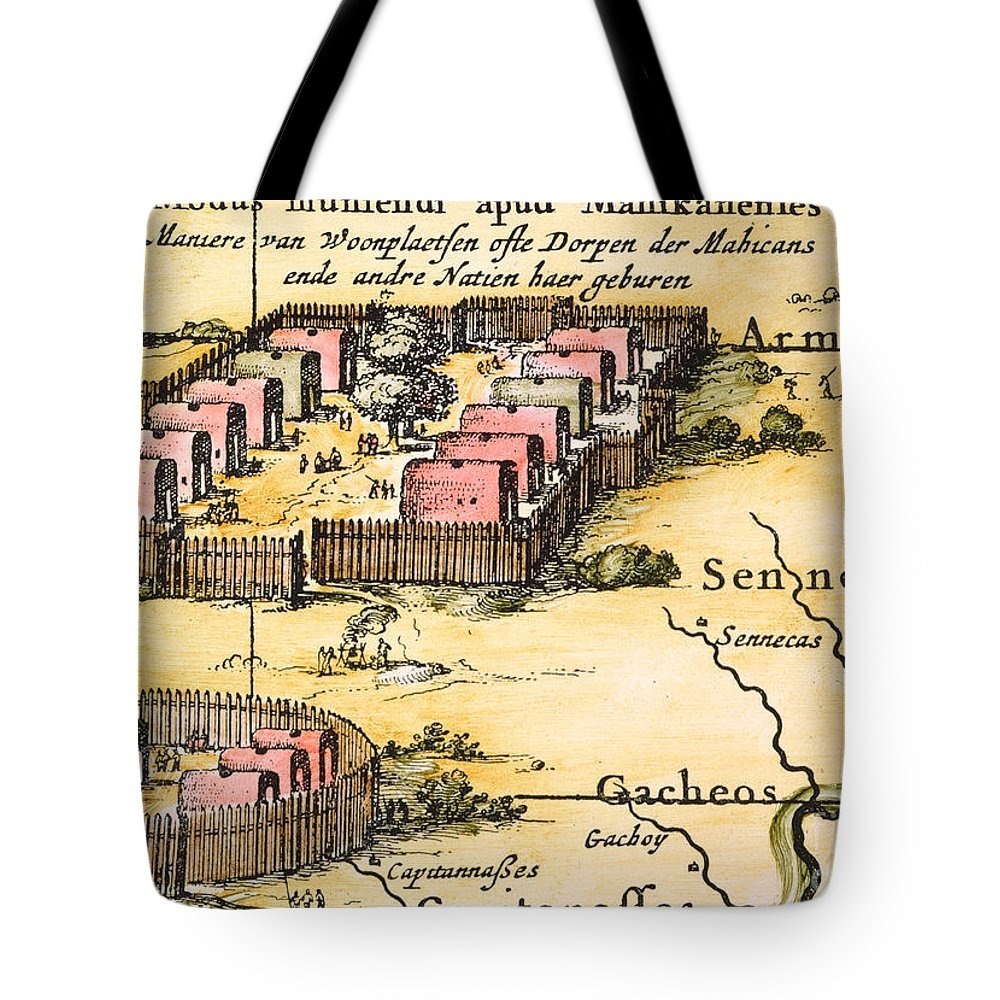 1650s Tote Bag featuring the photograph Minisink Village, 1650s by Granger