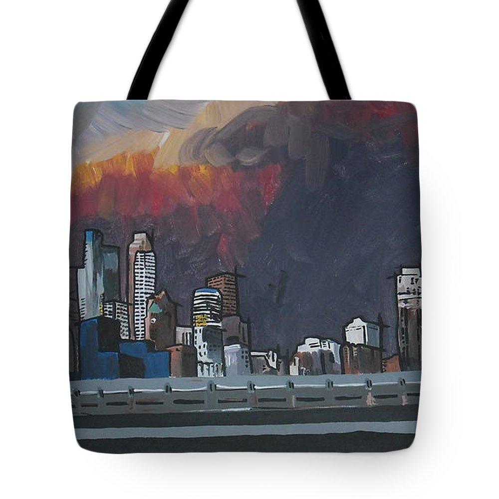 Minneapolis Tote Bag featuring the painting Minneapolis by Caroline Davis