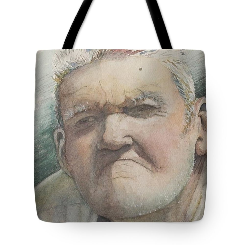 Portrait Tote Bag featuring the painting Minnesota Farmer by Nadine Rippelmeyer