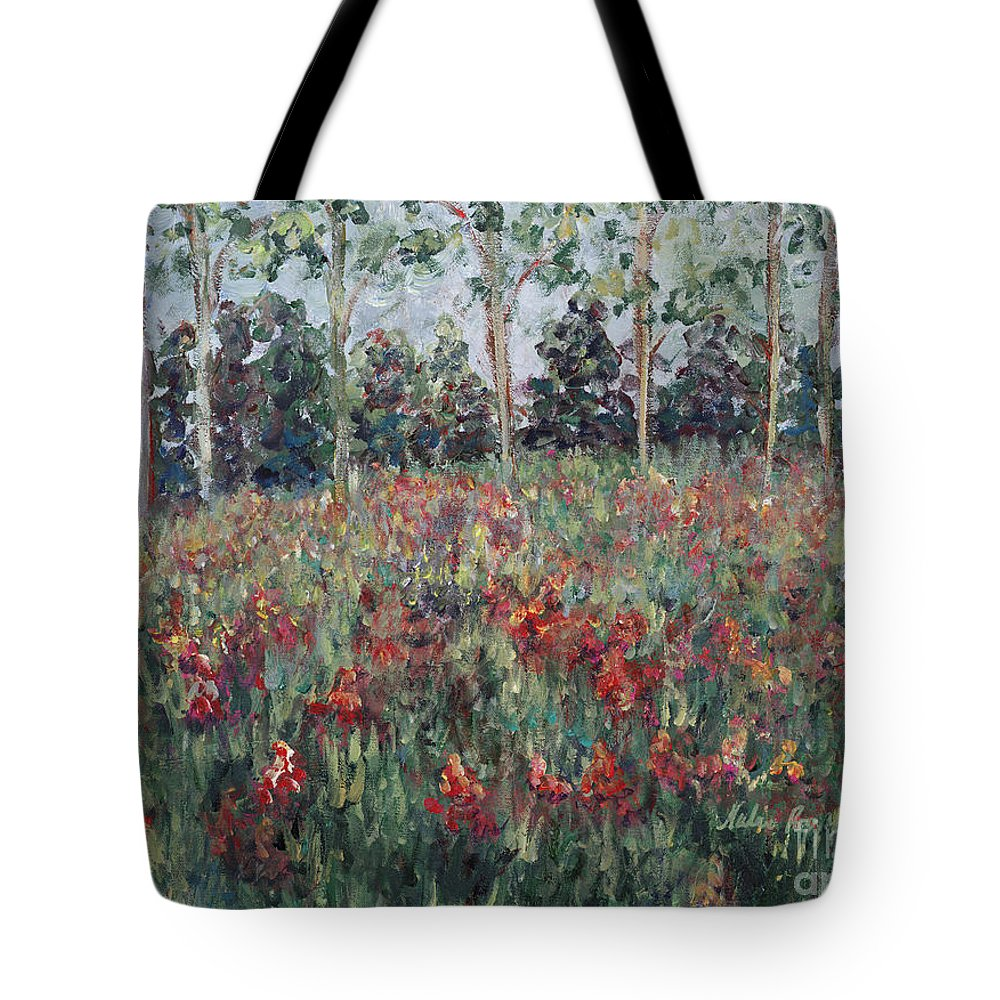 Landscape Tote Bag featuring the painting Minnesota Wildflowers by Nadine Rippelmeyer
