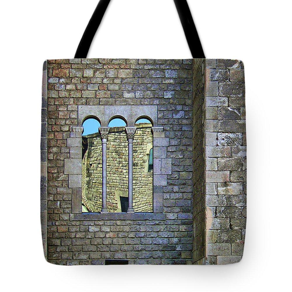 Windows Tote Bag featuring the photograph Mirador - Windows by Nikolyn McDonald