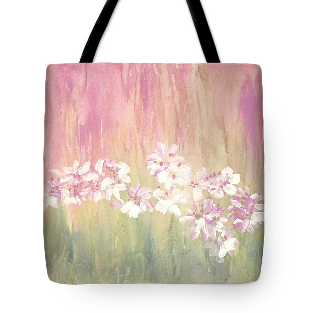 Mirage Tote Bag featuring the painting Mirage by Don Wright