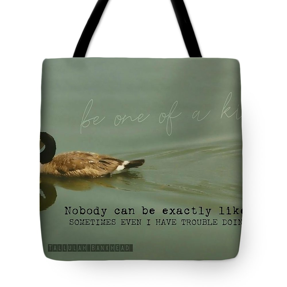 Goose Tote Bag featuring the photograph Mirror Image Quote by JAMART Photography