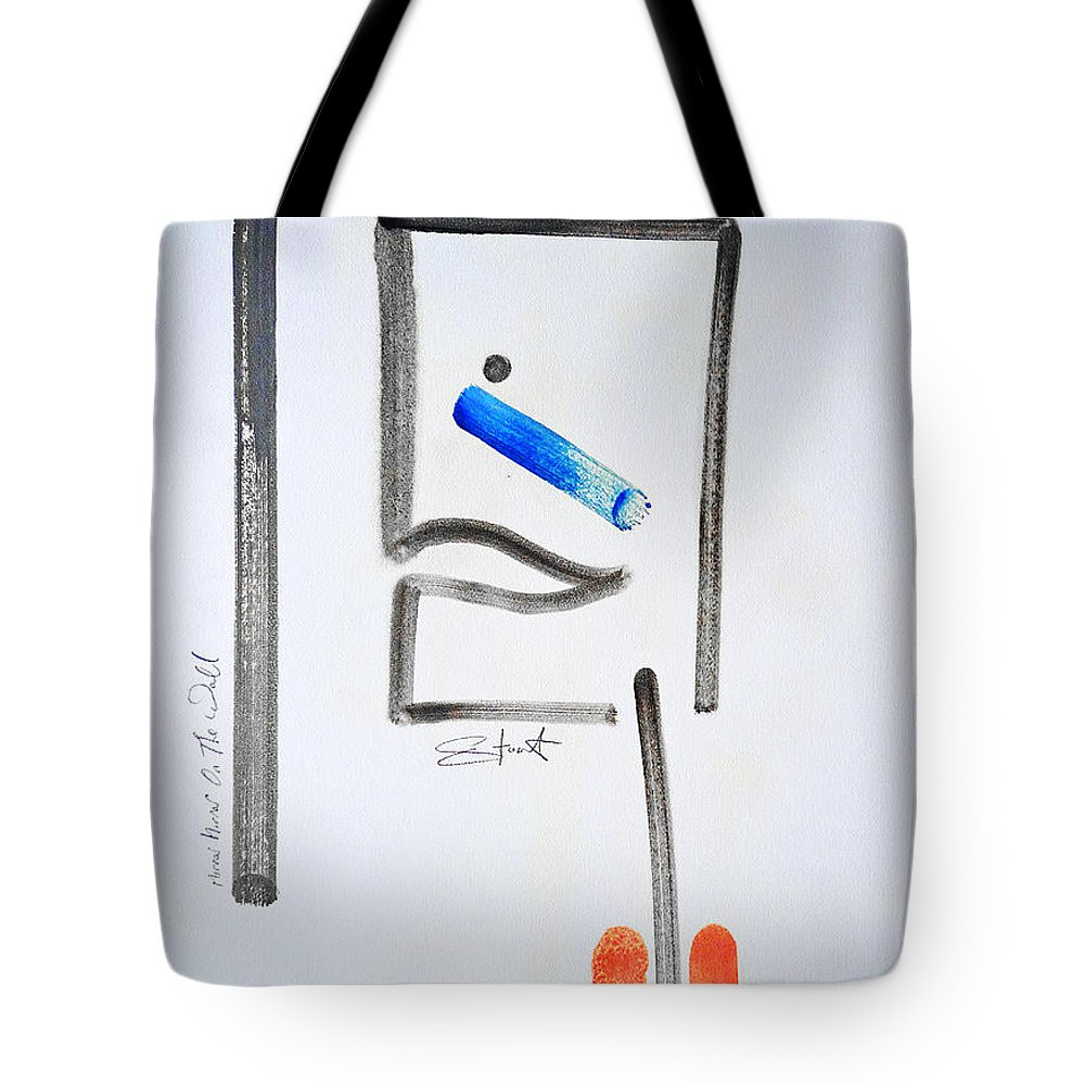 Drawing Tote Bag featuring the painting Mirror Mirror On The Wall by Charles Stuart